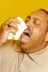 Letterbalm Man Sneezing with Tissue