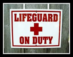 Letterbalm Lifeguard Sign