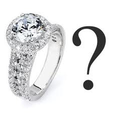 Letterbalm Diamond Ring with Question Mark