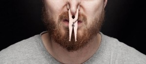 Letterbalm Man with Clothespin on Nose