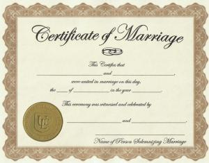 Letterbalm Marriage Certificate