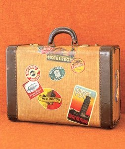 Letterbalm Suitcase with Travel Stickers