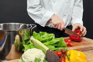 Letterbalm Man Chopping Vegetables