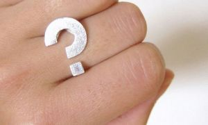Letterbalm Question Mark Ring