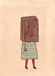 Letterbalm Woman with Bag on Head