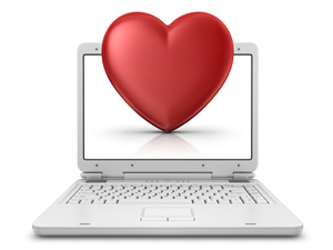 Letterbalm Heart on Computer Screen