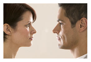Letterbalm Man Confiding in Woman